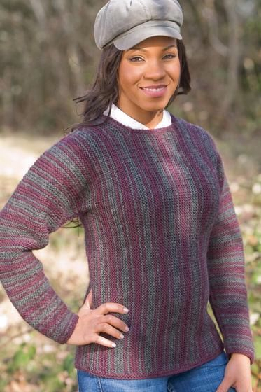Striped Square Neck Sweater Knitting Patterns And Crochet Patterns