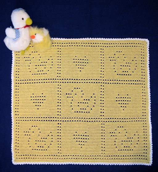 Baby Filet Just Ducky Crochet Blankie Knitting Patterns And