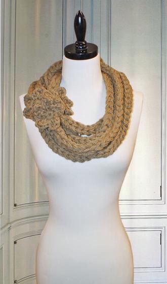 Golden Gate Necklace Crochet Scarf - Knitting Patterns and ...