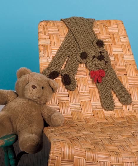 Teddy Bear Scarf Knitting Patterns And Crochet Patterns From