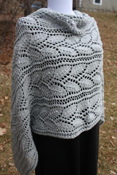 Leafy Branches Wrap Knitting Patterns And Crochet Patterns From
