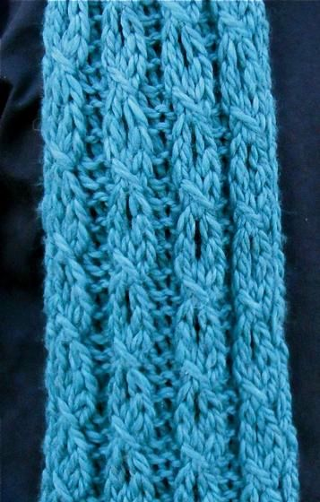 Mock Cable And Eyelet Scarf Knitting Patterns And Crochet Patterns