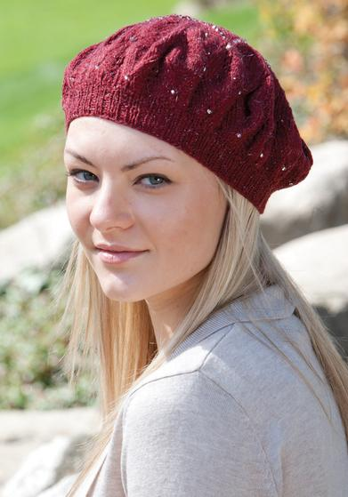 Starflower Beret Knitting Patterns And Crochet Patterns From