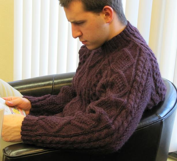 Ocasey Mens Sweater Knitting Patterns And Crochet Patterns From