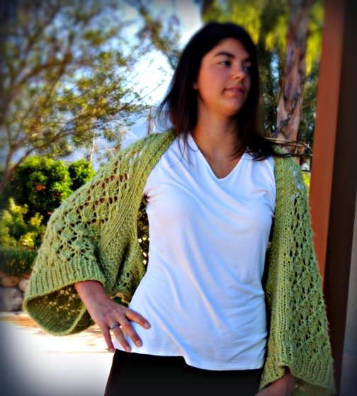 Kimono Lace Shrug Knitting Patterns And Crochet Patterns From