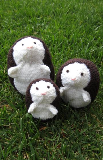 Hedgehog Family Knitting Patterns And Crochet Patterns From