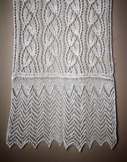 Frost Flower Lace Stole Knitting Patterns And Crochet Patterns