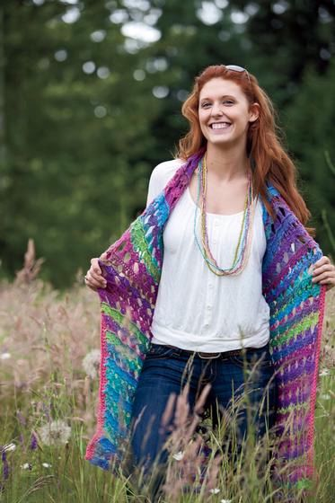 Amelia Broomstick Lace Long Vest - Knitting Patterns and ...