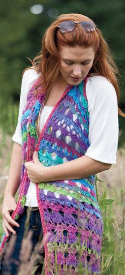 Amelia Broomstick Lace Long Vest Knitting Patterns And Crochet