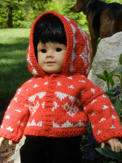 Hooded Doll Sweater Knitting Patterns And Crochet Patterns From