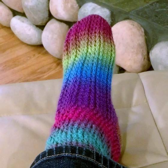 Knitting Pattern Says No Stitch : Ladder Stitch Crochet Socks - Knitting Patterns and Crochet Patterns from Kni...