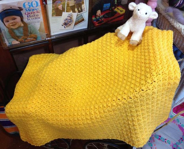 Huggable Crocheted Baby Blanket - Knitting Patterns and Crochet ...