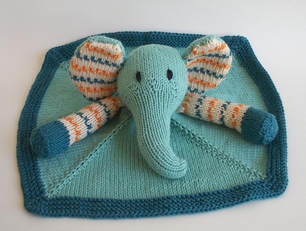 Bunny Blanket Buddy Knit Pattern : Baby Pears Blanket Buddy - Knitting Patterns and Crochet Patterns from KnitPi...