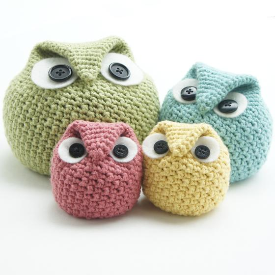 Free Easy Owl Crochet Patterns : Crochet Chubby Owl Family - Knitting Patterns and Crochet ...