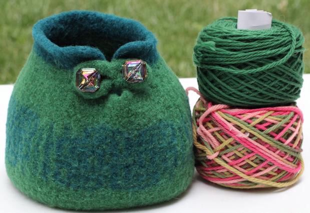 Large Small Slip Stitch Yarn Bowls Accessory Pouch Knitting