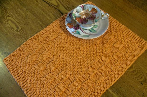 Knitted Placemat Patterns : Really Reversible Placemats & Table Runners Collection - Knitting Pattern...