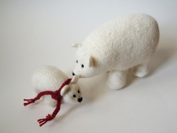 Polly The Polar Bear And Her Cub Knitting Patterns And Crochet