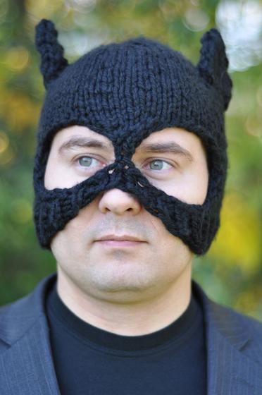 Bat Hat And Mask Knitting Patterns And Crochet Patterns From