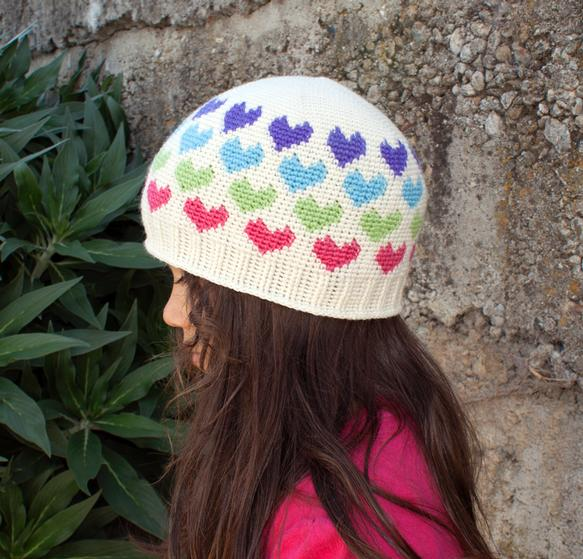 All Ages Hearts Abound Crochet Beanie - Knitting Patterns and ... 696654796b0