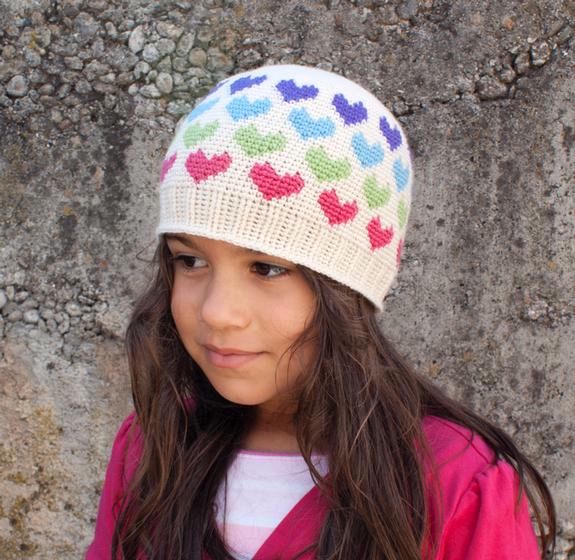 All Ages Hearts Abound Crochet Beanie Knitting Patterns And