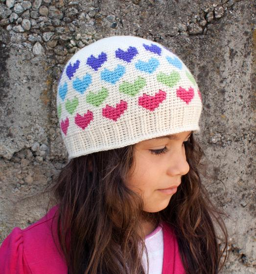All Ages Hearts Abound Crochet Beanie - Knitting Patterns and ...
