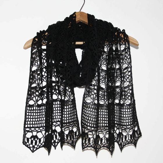 Crochet Lace Weight Shawl Pattern : Midnight Crochet Wrap - Knitting Patterns and Crochet ...