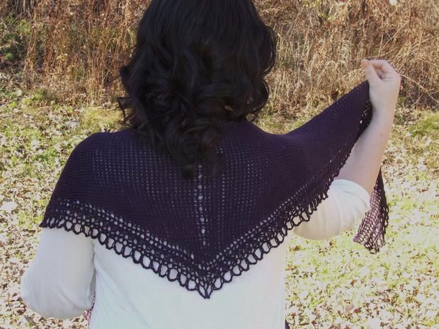 Ravens Song Tunisian Crochet Shawl Pattern Knitting Patterns And
