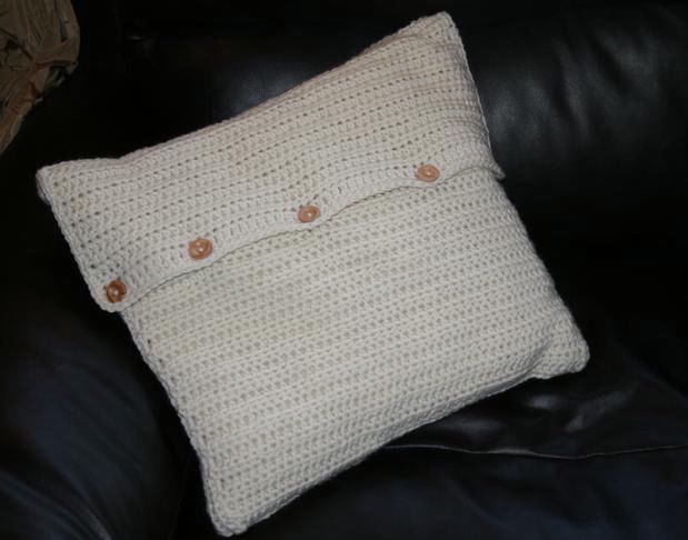 Crochet Cabled Big Block Afghan And Throw Pillow