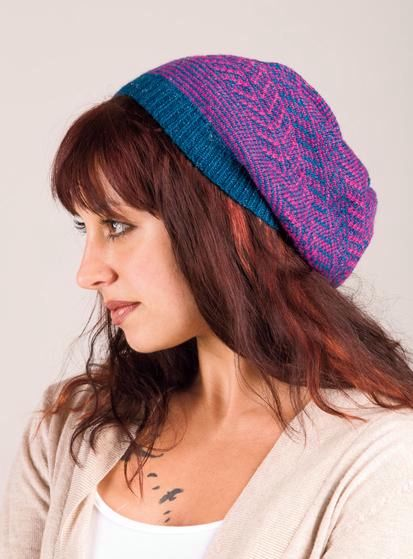 Tapestry Slouch Hat Knitting Patterns And Crochet Patterns From
