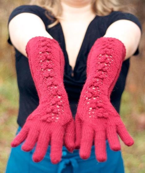 Free Crochet Pattern Opera Gloves : Merlot Opera Gloves - Knitting Patterns and Crochet ...