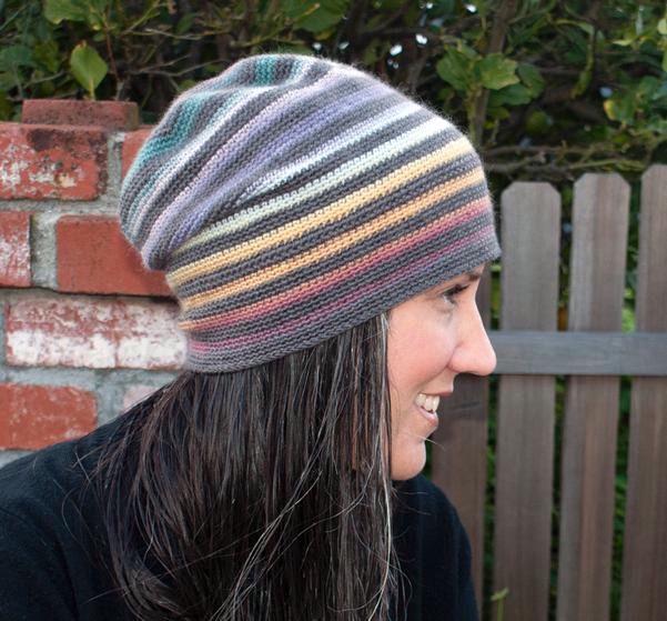 Very Versatile Striped Crochet Beanie - Knitting Patterns ...