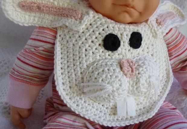 Forest Friends Crochet Bibs Bear And Bunny Knitting Patterns And