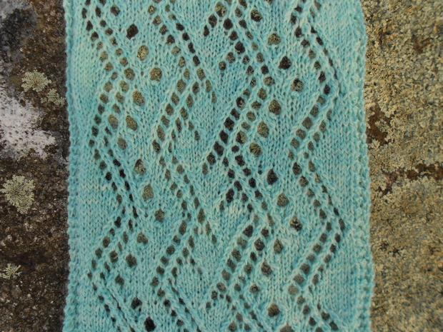 Net Lace Knitting Pattern : Rivers of Ice Lace Scarf - Knitting Patterns and Crochet ...