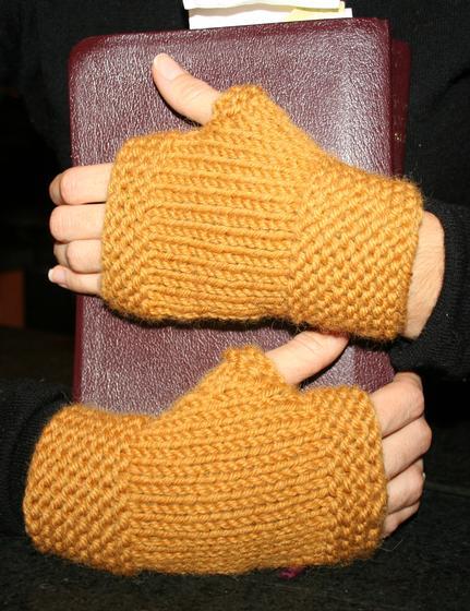 My First Fingerless Mittens