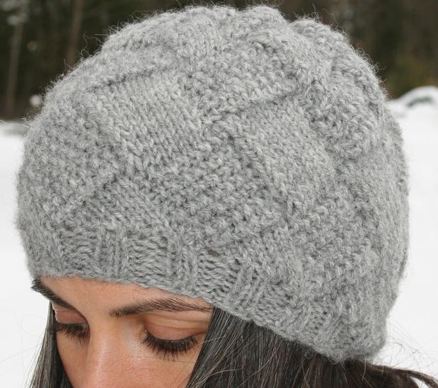 Entrelac Winter Hat Knitting Patterns And Crochet Patterns From