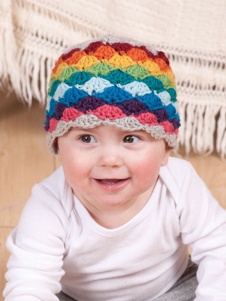 Darling Little Rainbow Crochet Hat Pattern Knitting Patterns And