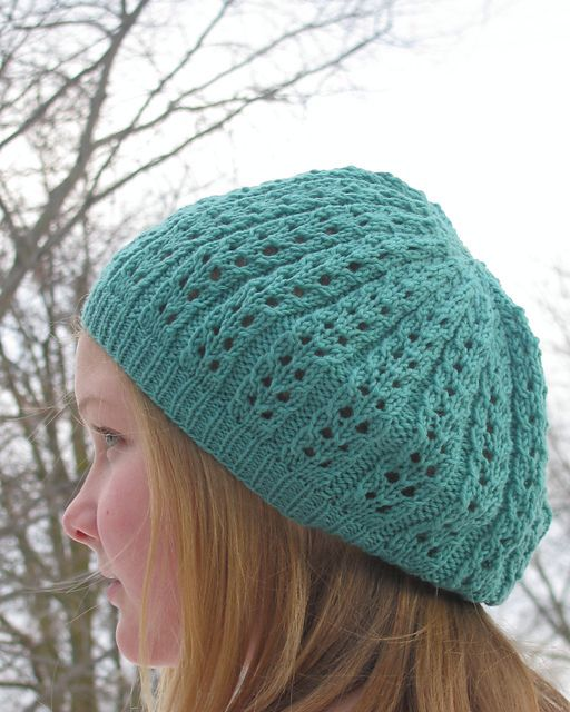25cfba975bf Sweet   Simple Lace Hat Pattern - Knitting Patterns and Crochet ...