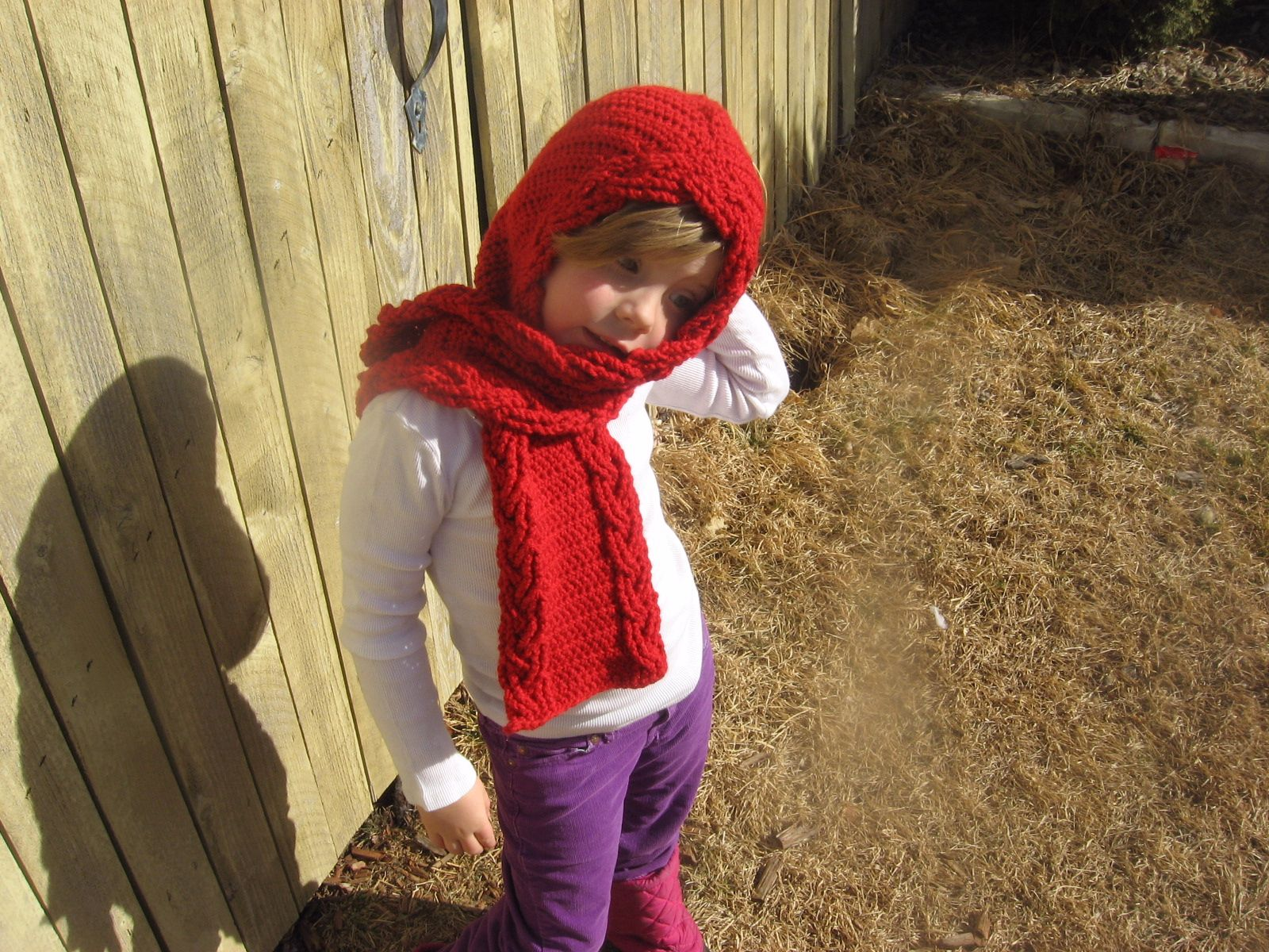 Over The River Hooded Crochet Scarf Knitting Patterns And Crochet