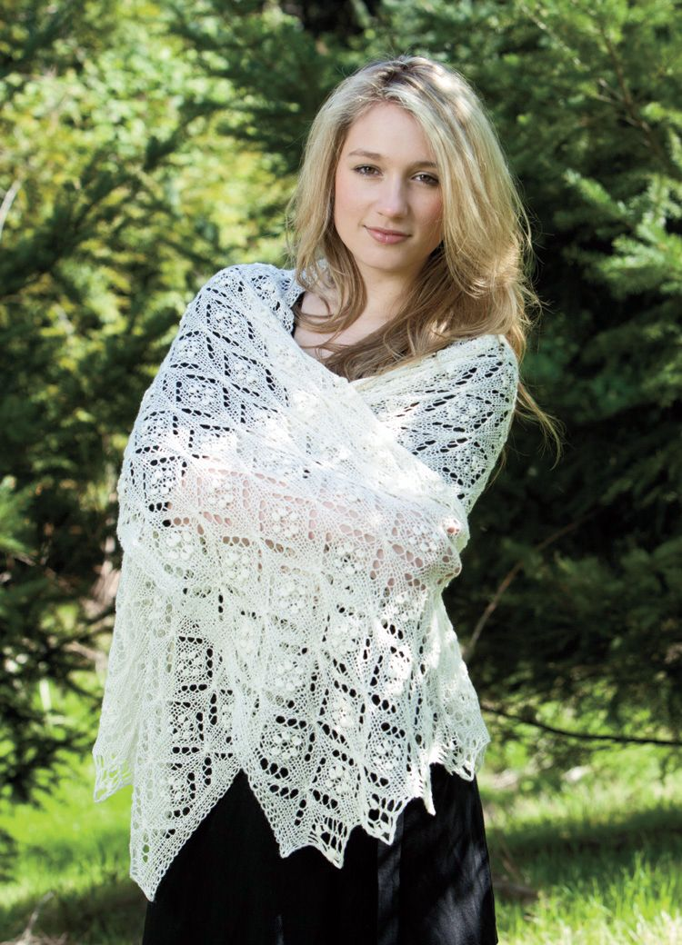 Quatrefoil Lace Scarf Pattern - Knitting Patterns and Crochet ...