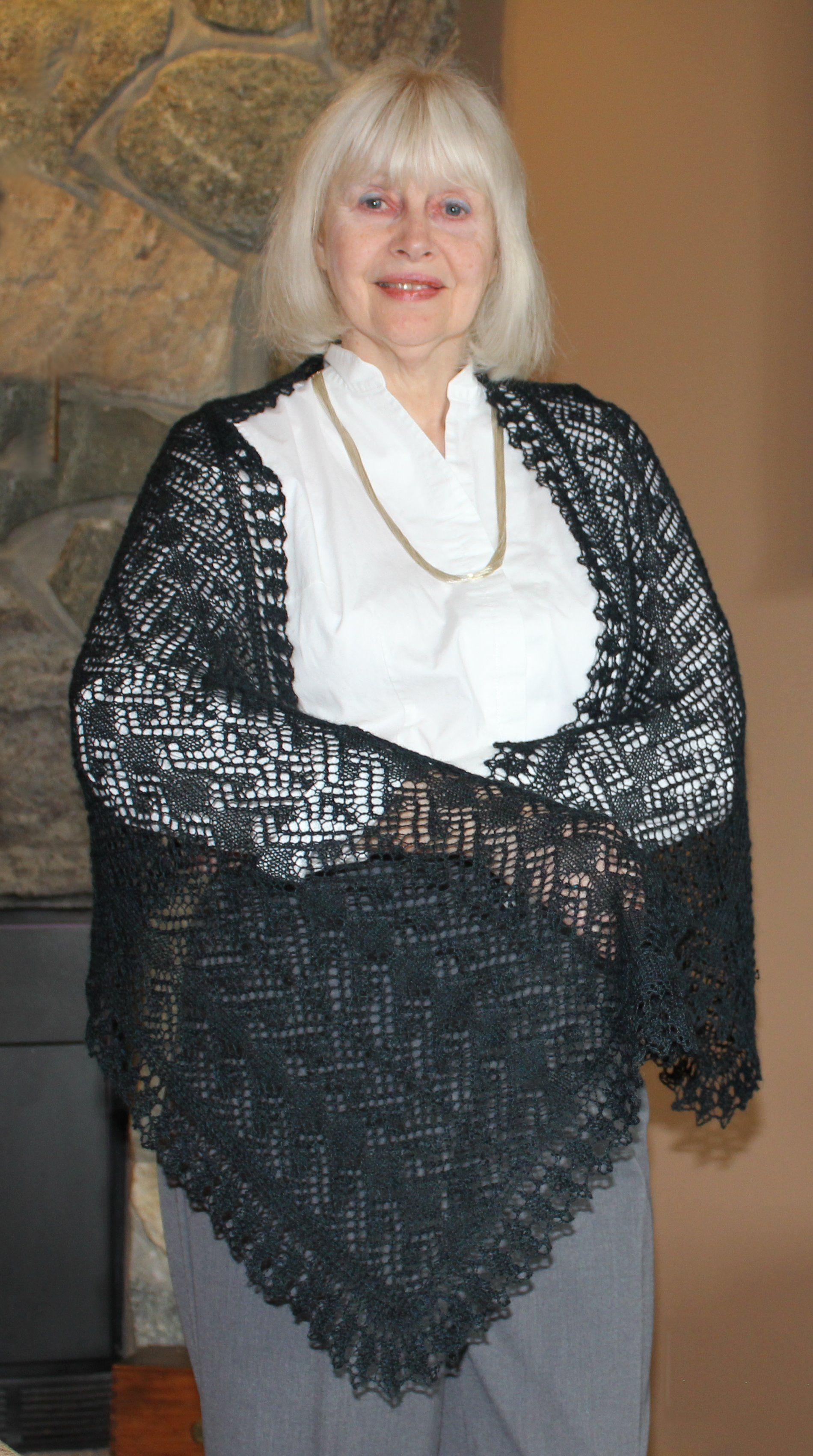 Midnight in Paris Lace Wrap Pattern - Knitting Patterns and Crochet ...