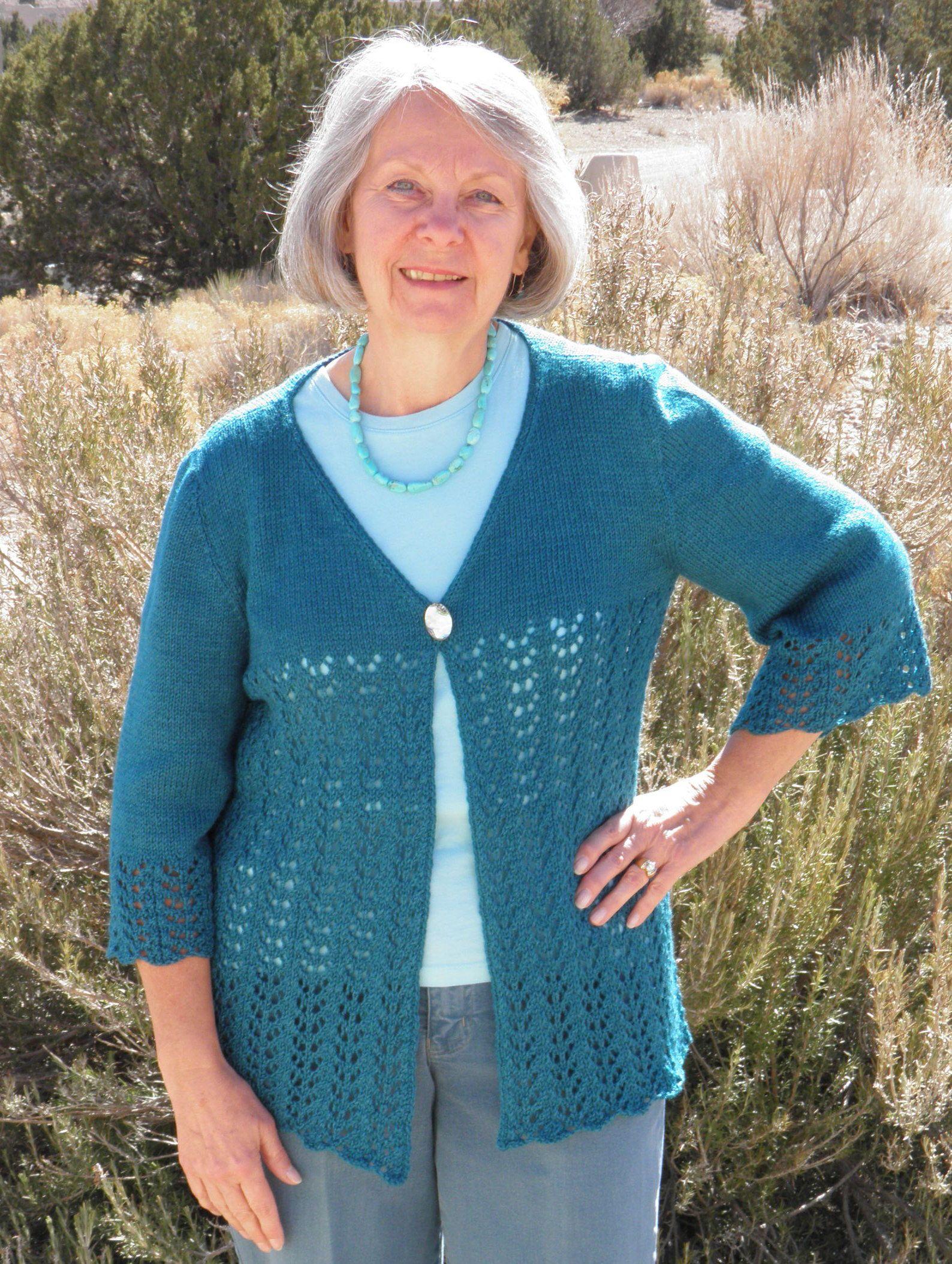Laurel Lace Cardigan Pattern - Knitting Patterns and Crochet ...