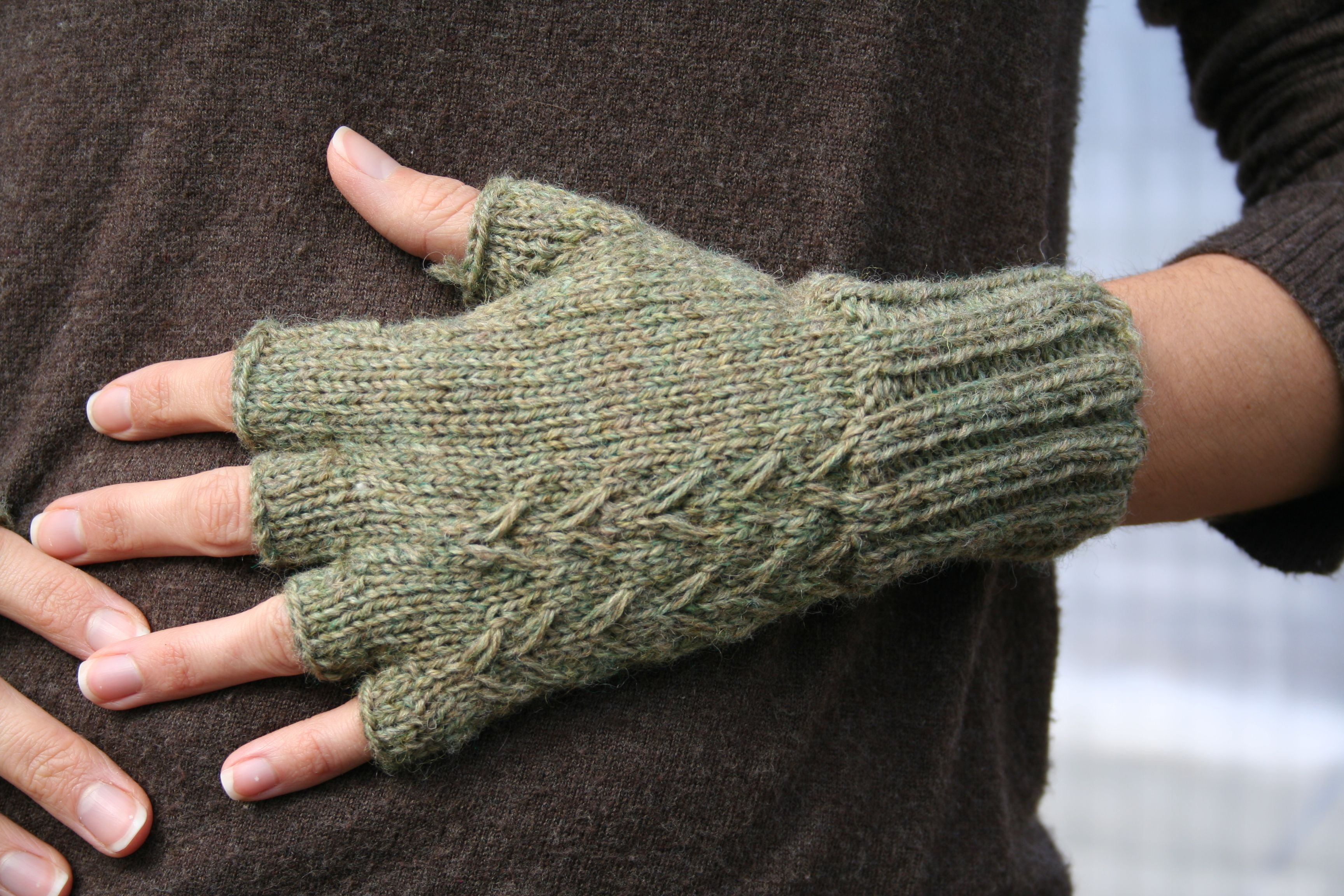 Fern Fingerless Gloves Pattern - Knitting Patterns and Crochet ...