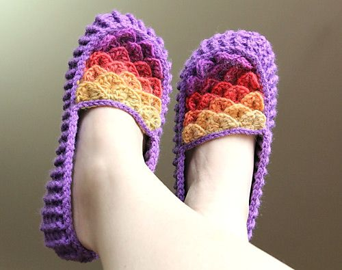 Crocodile Stitch Crochet Loafers Adult Size Knitting Patterns