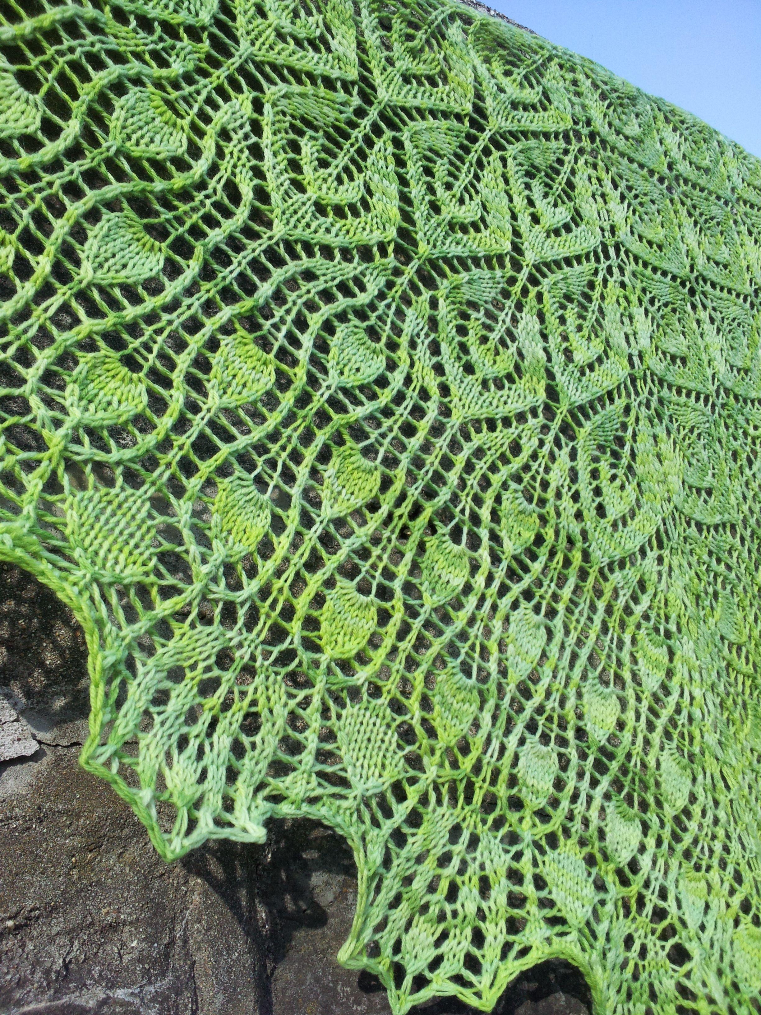 Tulip Tree Shawl Pattern - Knitting Patterns and Crochet Patterns ...