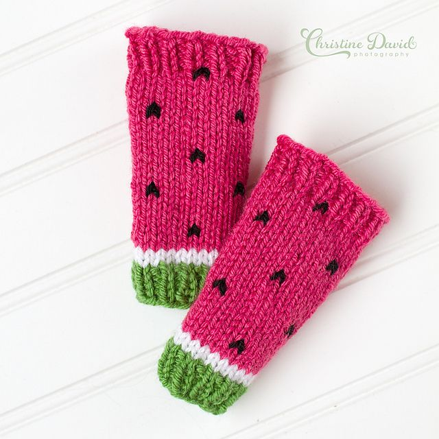 Watermelon Leg Warmers Pattern - Knitting Patterns and Crochet ...
