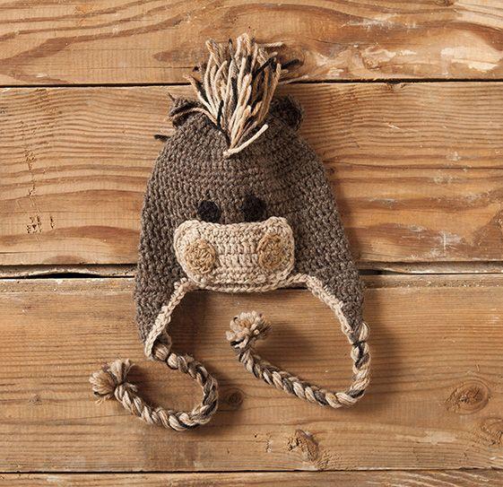 Domestic Zoo Of Crochet Animals Hats Pattern Knitting Patterns And