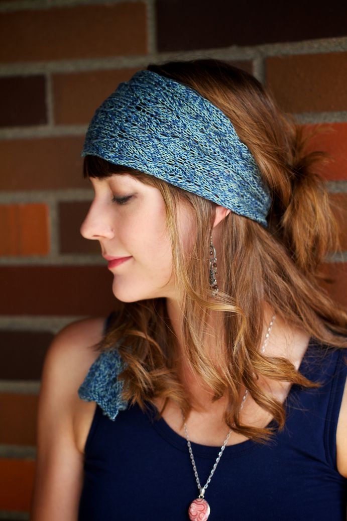 Azure The Bohemian Headscarf Pattern Knitting Patterns And