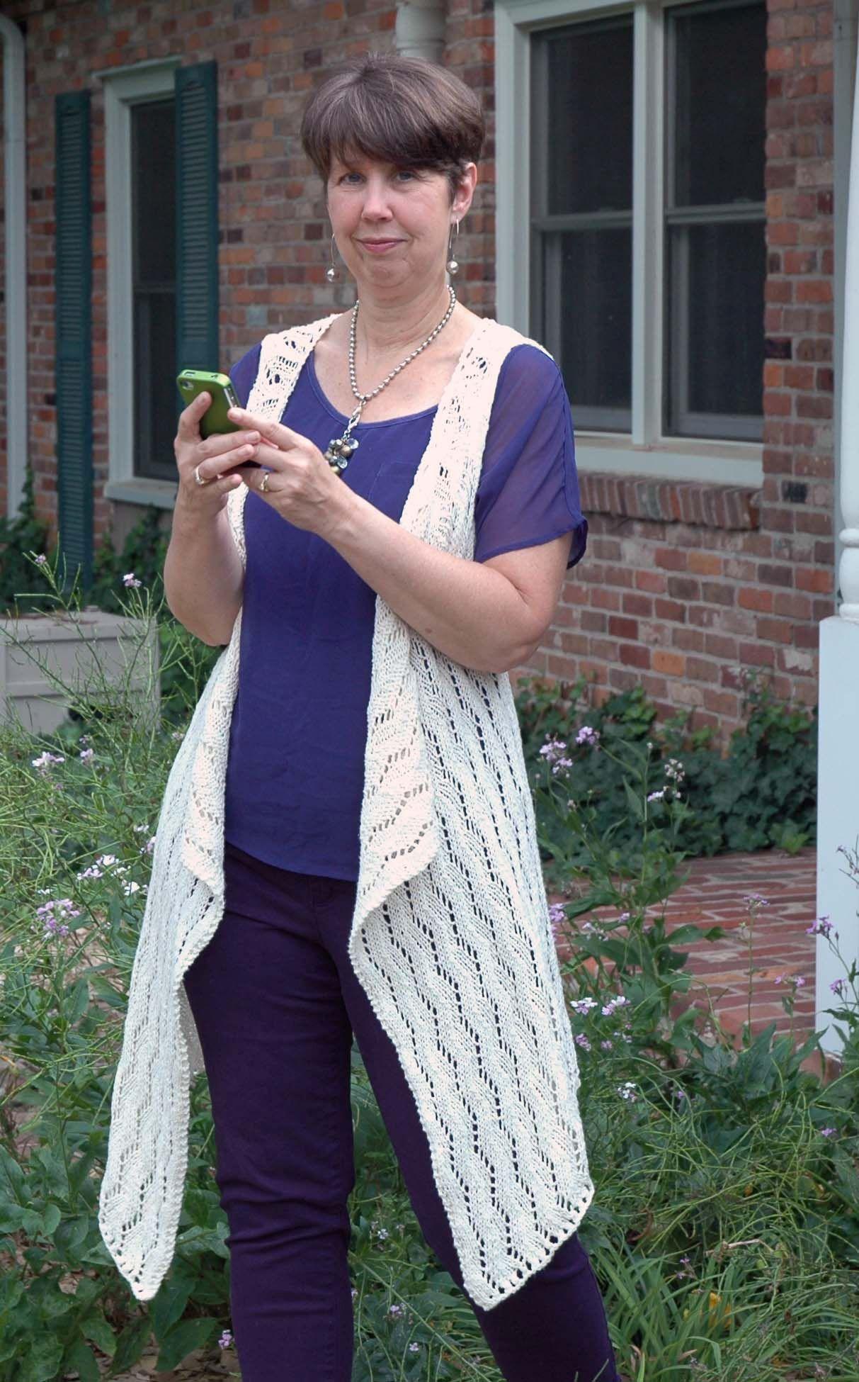 Lace Waterfall Vest Pattern - Knitting Patterns and Crochet Patterns ...