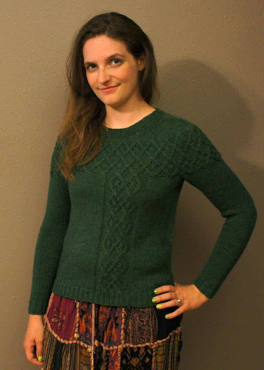 Argyle Cable Pullover Pattern - Knitting Patterns and Crochet ...