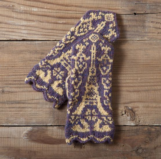 Printemps Parisen Mittens Pattern Knitting Patterns And Crochet